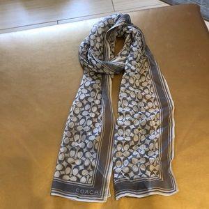 Coach light weight scarf